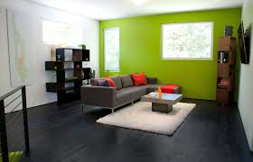 ... Green accent wall in living room