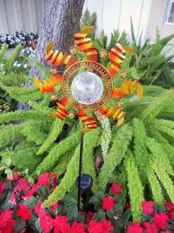 color changing solar garden lights. Solar Garden Lights Sunflower Stake With Metal Petals Crackled Glass LED Light. Quick View. Color Changing C