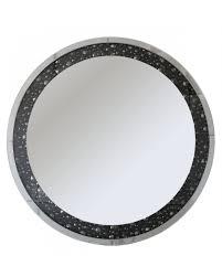 dakota black mirror gem round wall mirror