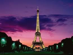 eiffel tower dusk paris france wallpaper