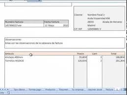 formato para facturas en excel facturas con archivo plantilla excel descarga gratis youtube