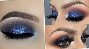 tutorial makeup mata langkah demi langkah blue jewel toned smokey eyes