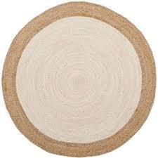 natural fiber ivory beige 5 ft x 5 ft round area rug