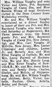 William and Rhoda Vaughn family - Dinner - Newspapers.com