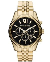 michael kors men s chronograph lexington gold tone stainless steel gallery