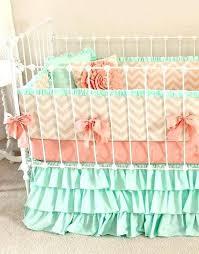 mint and pink crib bedding paisley crib bedding mint peach baby bedding girl crib bedding baby