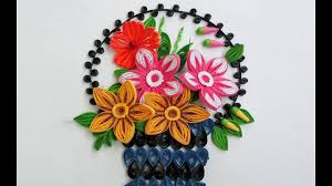 Paper Quilling Flower Baskets Paper Quilling Art How To Make Beautiful Quilling Flower