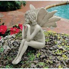 garden fairies statues. The Secret Garden Fairies: Pondering Fairy Statue DESIGN TOSCANO Fairies Statues