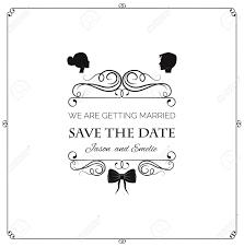 Wedding Invitation Vector Silhouette Bride And Groom Wedding