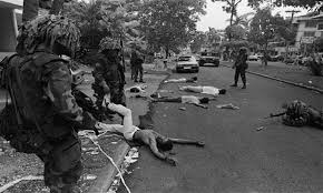 Image result for PHOTOS OF MASSACRED RESIDENTS OF EL CHORRILLO IN PANAMA