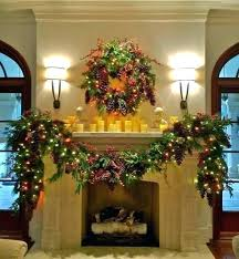 garland for fireplace mantel holiday decor mantle traditional spring firepla