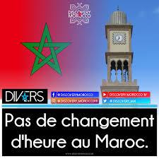 """Résultat de recherche d'images pour """"Fin du Changement d'heure au Maroc"""""""