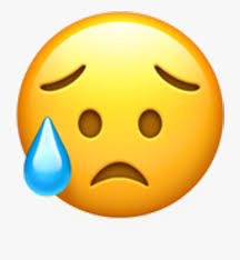 Iphone Emoji Clipart Sad But Relieved Face 218535 Free