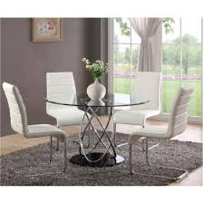 mille clear glass dining table only 18863 furniture in for round set designs 8