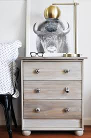 Ikea Hack: Driftwood stained RAST nightstand for the Scandinavian farmhouse  feel