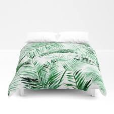 palm leaf duvet cover palm bed cover