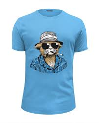 <b>Футболка</b> Wearcraft Premium Slim Fit <b>Hunter</b> S. Thompson Cat ...