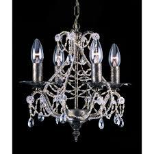 montpellier 4 light crystal chandelier in antique bronze finish cf04716 04 abr