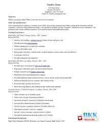 Bank Teller Resume Entry Level | Resume For Study