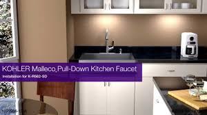 Kohler Barossa Kitchen Faucet Installation Malleco Pull Down Kitchen Faucet Youtube