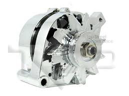 ford 1g style 110amp 1 wire alternator chrome ford alt frontqtr