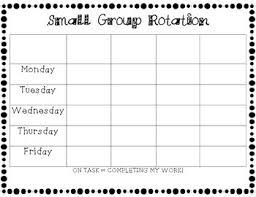 Chart Rotation Small Group Rotation Chart Write In
