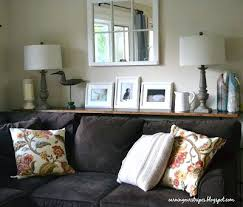 sofa table behind couch against wall. Sofa Table Between And Wall Shelf Behind Couch Looks Like A I . Against