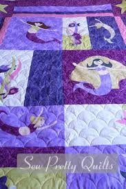 Sea Glass Mermaid Quilt | Beach & Button Crafts | Pinterest ... & Mermaid Quilt - Quilt top made by Ronnie - I did the quilting :) Adamdwight.com
