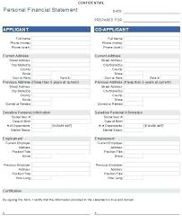 Printable Personal Financial Statement Template Individual Form ...