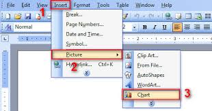 Word How To Insert Chart In Word