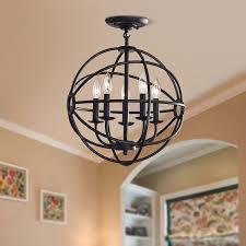 full size of amusing benita antique black light iron orb flush mount chandelier modern lighting for