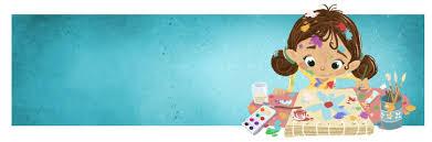 pincel pintando. niña pintando con pincel