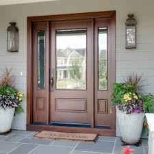 doors fiberglass exterior doors fiberglass entry doors reviews single wooden front door with mirror panel