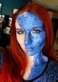 x men mystique makeup tutorial mystique makeup by the blue oddball mystique makeup
