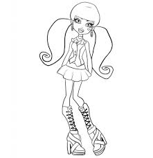 Monster High Coloring Pages - fablesfromthefriends.com