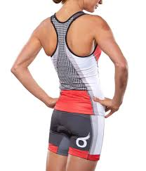 Soas Racing Red Houndstooth Tri Kit Cycling Outfit