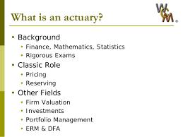 Wcm 2010 Actuarial Science 101