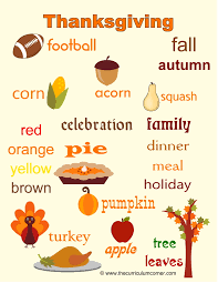 Thanksgiving Word Wall For Writers The Curriculum Corner 123