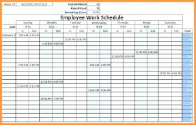 6 Week Work Schedule Template Free Weekly Work Schedule Template Pdf Excel Employee Proposal