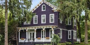 Purple Victorian Home Purple Exterior Paint Colors Pink Victorian House