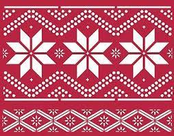 Nordic Pattern Impressive Above Both Pattern Motifs Of The Nordic Pattern Stencil 48