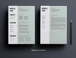 1 Page Cv Template Minimal Design Resume Templates Creative
