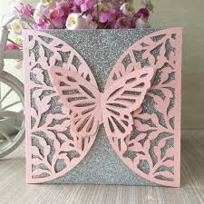 Fancy Designs For Cards Lace Design Hollow Big Butterfly Wedding Invitation Cards Exquisite Greeting Cards Fancy Dress Party Invitations Vineyard Wedding Invitations Wedding