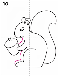 Small Picture How To Draw A Squirrel Aid2444425 V4 586px Draw Squirrel Step 19