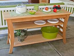 build an outdoor buffet table patio console some functions of back to on party round coffee pool deck furniture white wicker aluminum quality porch and