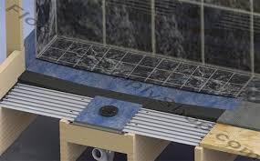 clearpath curbless shower pan system complete floor kit tile shower floor kit