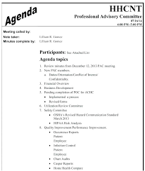 Free Agenda Templates For Meetings