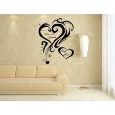 Always Kiss Me Goodnight Hearts Wall Art Sticker  Bedroom Stickers  Decalls Bargainszone