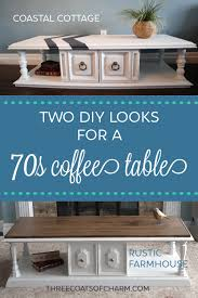 2 vintage 70s coffee table makeover