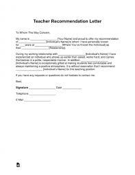 Samples Of Letter Recommendation Format Sample For Employee